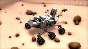 Artist recreation of Mars rover.
