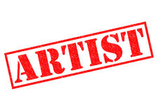 ARTIST. Red Rubber Stamp over a white background Royalty Free Stock Images