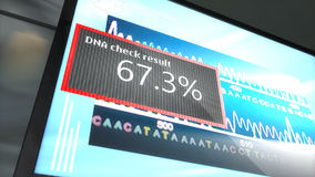 Artist rendering  DNA matching technology. stock video footage