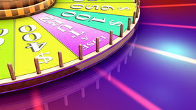 Artist rendering, fun television game show wheel. stock video
