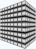 Artist Rendering Office Building. Computer generated 3D office building Royalty Free Stock Photography