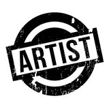 Artist rubber stamp. Grunge design with dust scratches. Effects can be easily removed for a clean, crisp look. Color is easily changed Stock Photo