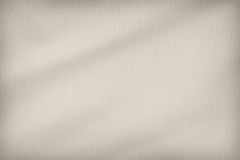 Artist's Beige Primed Cotton Duck Canvas Coarse Crumpled Vignetted Texture Sample Stock Photography