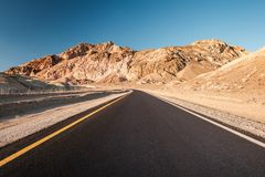 Artist`s Drive in Death Valley Royalty Free Stock Photo