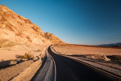 Artist`s Drive in Death Valley. National Park, California, USA Royalty Free Stock Photos