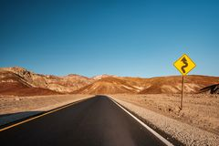 Artist`s Drive in Death Valley. National Park, California, USA Stock Image