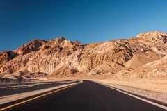 Artist`s Drive in Death Valley Stock Photography