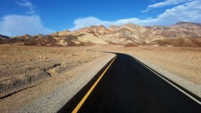 Artist's Drive and Palette in Death Valley stock photography