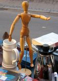 Artist's dummy on a flea market Royalty Free Stock Image
