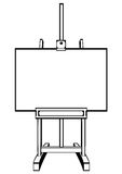 Artists easel on white. Background Royalty Free Stock Photography