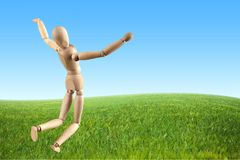 Artist`s figure. Mannequin falling figurine running people men stock illustration