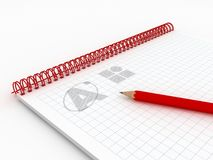 Artist's / Graphic Designer's Note Pad Royalty Free Stock Photos