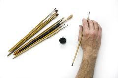 Artist's hand Royalty Free Stock Photography