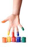 Artist's hand Royalty Free Stock Images