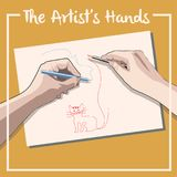 The Artist s Hands royalty free illustration
