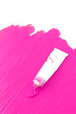 Artist's hot pink  paint Stock Photo