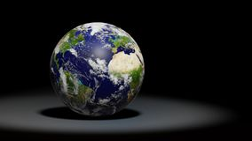 Planet Earth, the blue planet, solar system set. Artist`s impression of the `blue marble Royalty Free Stock Images