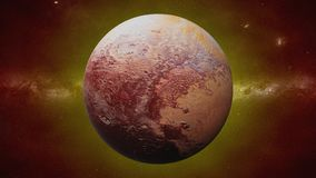 Dwarf planet Pluto, former planet of the Solar System royalty free stock images