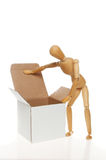 Artist's manikin and box Royalty Free Stock Image