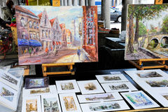 Artist's paintings for sale Royalty Free Stock Images