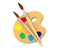 Artist's Palette. Painter's palette on white. Computer generated image Royalty Free Stock Photo