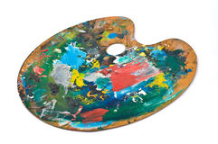 Artist's palette. With colorful paint Royalty Free Stock Photography
