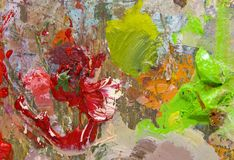 Artist's palette. With multiple colors Stock Photography