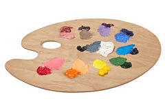 Artist's palette with basic colors Royalty Free Stock Images
