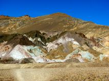 Artist's Palette colorful rocks in Death Valley National Park. Royalty Free Stock Photography