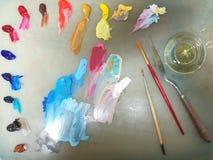Artist`s palette Stock Images