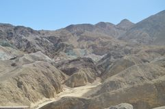 Artist`s Palette. The Lowest Place Below The Sea Level. Gigantic Salt Lagoons. Travel holydays Geology. June 28, 2018. Death Valley California. EEUU. USA Stock Photos