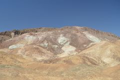 Artist`s Palette. The Lowest Place Below The Sea Level. Gigantic Salt Lagoons. Travel holydays Geology. June 28, 2018. Death Valley California. EEUU. USA Stock Image