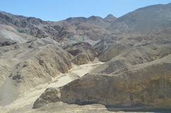 Artist`s Palette. The Lowest Place Below The Sea Level. Gigantic Salt Lagoons. Travel holydays Geology. June 28, 2018. Death Valley California. EEUU. USA Royalty Free Stock Image