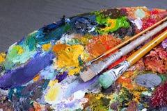 An artist's palette Stock Photos