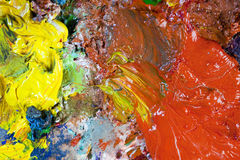 An artist's palette Stock Photography