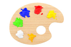 Artist's palette with multiple colors Stock Images