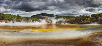 Artist S Palette Pool, Hot Thermal Spring, New Zealand Stock Images