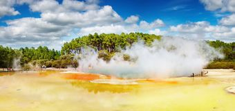 Artist's Palette pool, New Zealand Royalty Free Stock Images