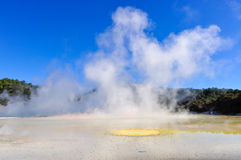 The Artist's Palette in the Wai-o-tapu geothermal area, near Rot Royalty Free Stock Images