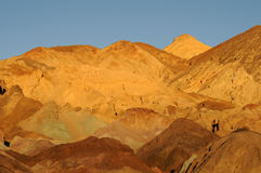 Artist's Pallette sunset. Colorful Artist's Pallette at dusk in Death Valley stock images