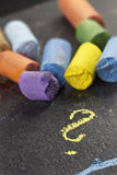 Artist´s pastels, detail macro shot with low DOF (depth of fiel Royalty Free Stock Photography