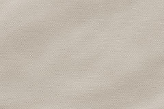 Artist's Primed Cotton Canvas Texture Sample. Photograph of primed, coarse grain, Off White artist's Cotton duck canvas, crumpled texture sample Stock Photography