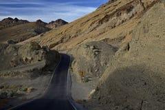 Artist& x27; s przejażdżka, Śmiertelna dolina Zdjęcia Royalty Free