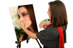 Artist's Self-Portrait Stock Image