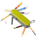 Artist`s toolkit_2 Royalty Free Stock Photo