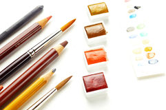 Artist's tools Royalty Free Stock Photo