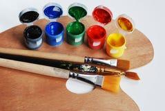 Artist's wooden  palette Stock Image