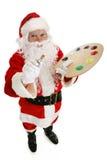 Artist Santa Claus royalty free stock image