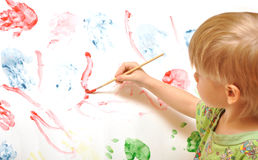 Artist school boy Royalty Free Stock Photo