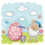 Artist Sheep Royalty Free Stock Images